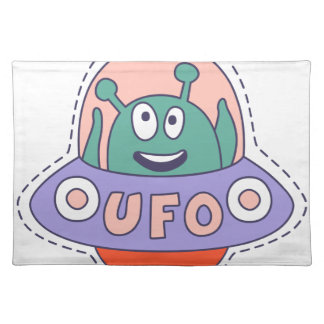 UFO With Alien Placemat