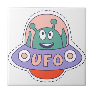 UFO With Alien Tile