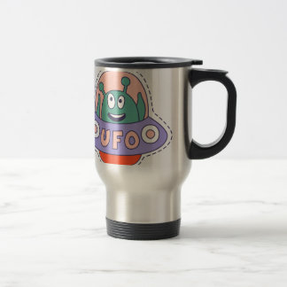 UFO With Alien Travel Mug