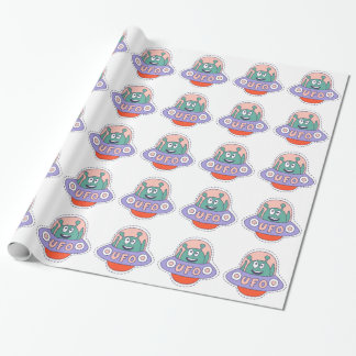 UFO With Alien Wrapping Paper