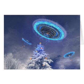 UFO Xmas Card