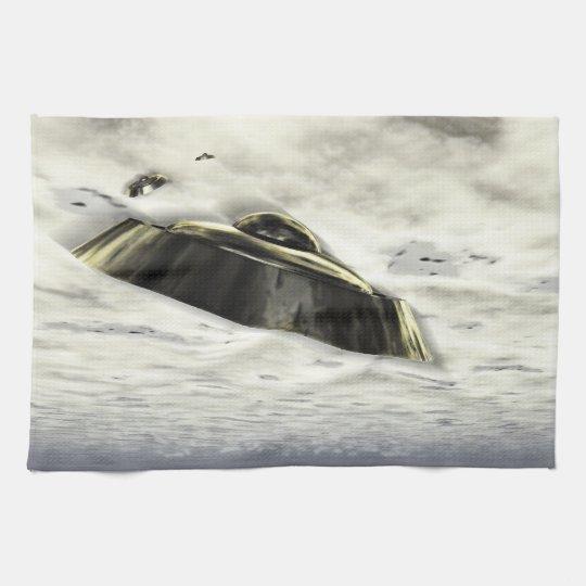 UFOs in Flight Kitchen Towels