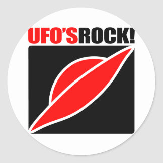 UFO's Rock! Classic Round Sticker