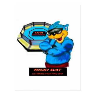 UFR ~  ULTIMATE FIGHTING RAT. POSTCARD