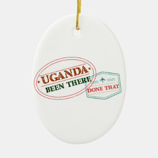 Uganda Been There Done That Ceramic Oval Ornament