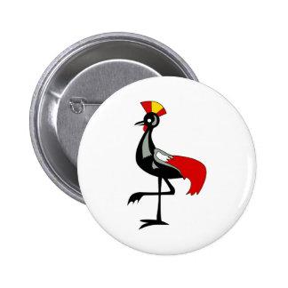 UGANDA BIRD.png 2 Inch Round Button