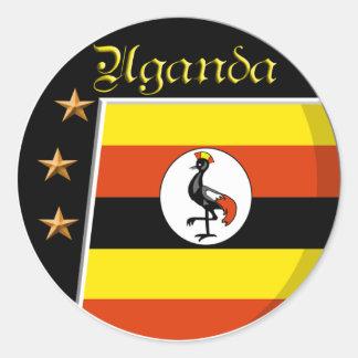 Uganda Classic Round Sticker