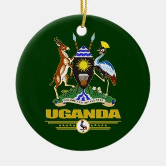 Uganda COA Ceramic Ornament