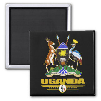 Uganda COA Square Magnet