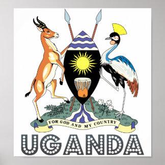 Uganda Coat of Arms Poster