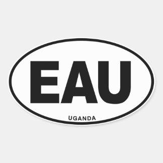Uganda EAU Oval ID Identification Code Initials Oval Sticker