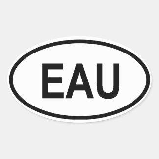 "Uganda ""EAU"" Oval Stickers"