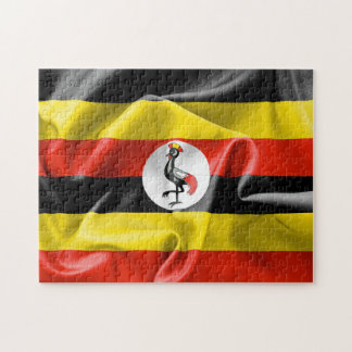 "Uganda Flag 11"" x 14"" Photo Puzzle with Gift Box"