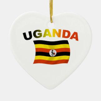 Uganda Flag 2 Ceramic Ornament