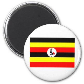 Uganda flag 2 inch round magnet