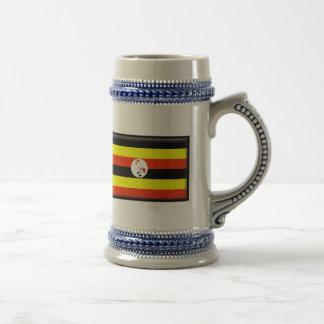 Uganda Flag Beer Stein