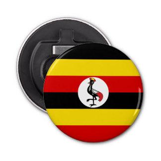 Uganda Flag Button Bottle Opener