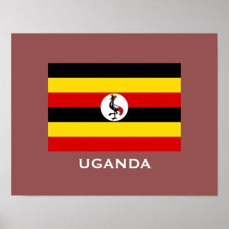 Uganda Flag Classic Flag Poster