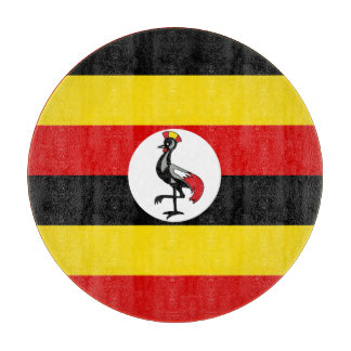 Uganda Flag Cutting Board