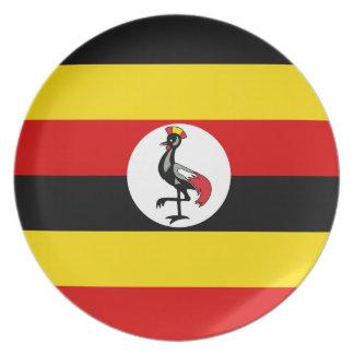 Uganda Flag Dinner Plate