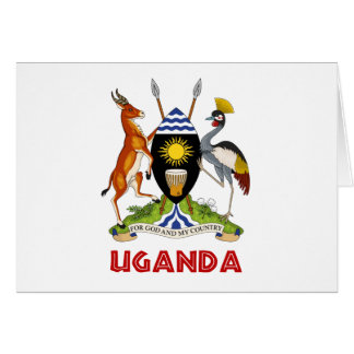UGANDA -  flag/emblem/coat of arms/symbol Card