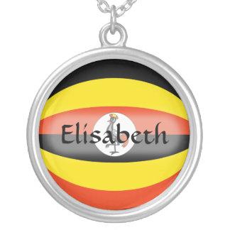 Uganda Flag + Name Necklace