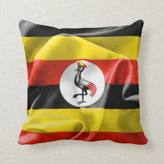 "Uganda Flag Polyester Throw Pillow 16"" x 16"""