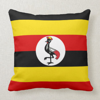 Uganda Flag Throw Pillow