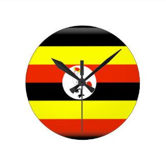 Uganda Flag Wall Clocks