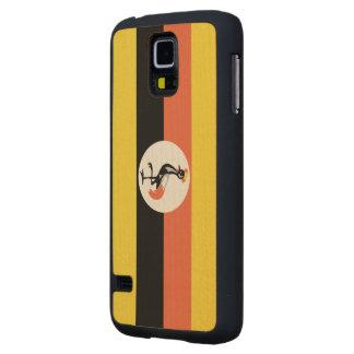 Uganda Flag Carved® Maple Galaxy S5 Slim Case