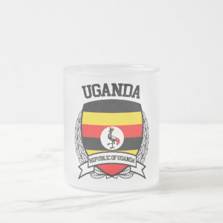 Uganda Frosted Glass Coffee Mug