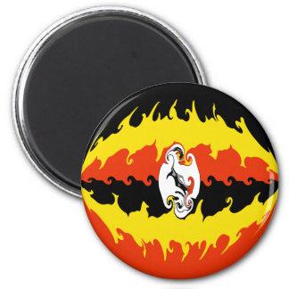 Uganda Gnarly Flag 2 Inch Round Magnet