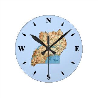 Uganda Map Clock