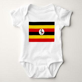 Uganda National World Flag Baby Bodysuit