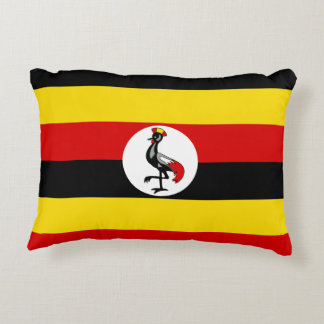 Uganda National World Flag Decorative Pillow