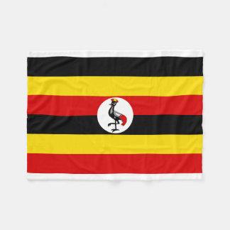Uganda National World Flag Fleece Blanket