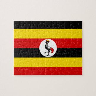 Uganda National World Flag Jigsaw Puzzle