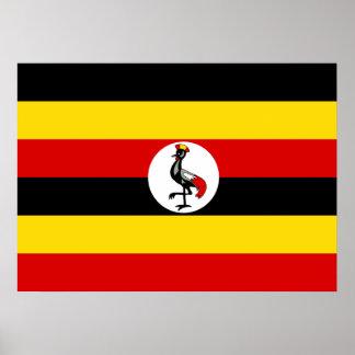 Uganda National World Flag Poster