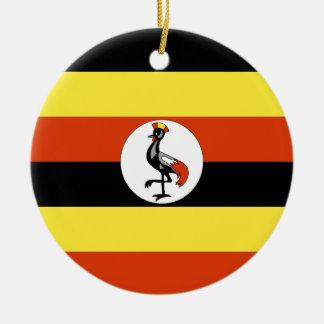 Uganda Round Ceramic Ornament