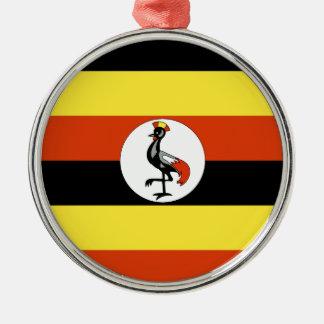 Uganda Silver-Colored Round Ornament