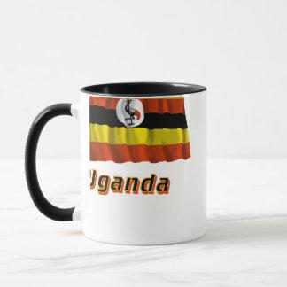 Uganda Waving Flag with Name Mug