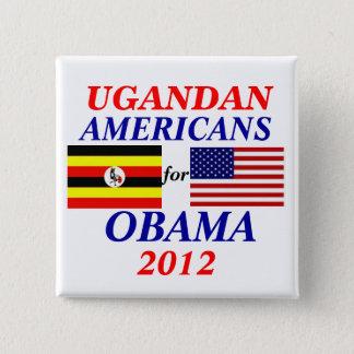 Ugandan americans for Obama 2 Inch Square Button