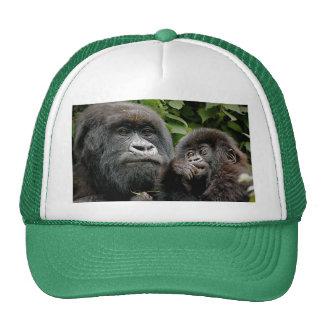 Ugandan Mother & Baby Gorilla Mesh Hat