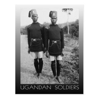 Ugandan Soldiers in Kampala (1936) Postcard