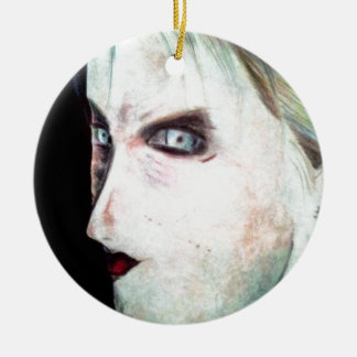 UGLY Angry Woman Ceramic Ornament