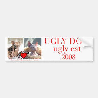 Ugly animals for president bumper sticker