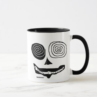 ugly black and white mug