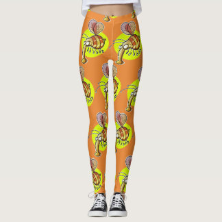 ugly bumble bee funny cartoon leggings