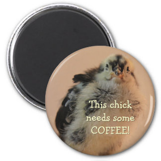 Ugly Chick 2 Inch Round Magnet
