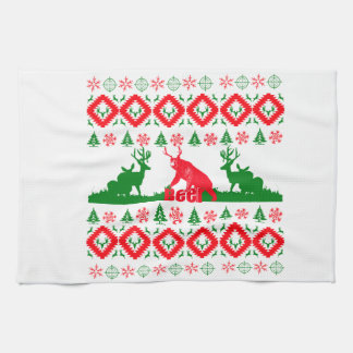 Ugly Christmas beer Hand Towels